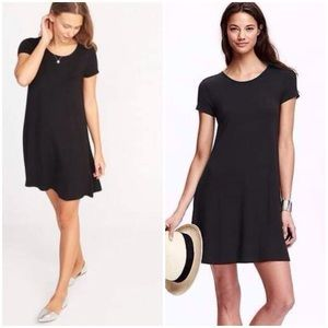 Old Navy Black Jersey T-Shirt Swing Dress XL/XXL